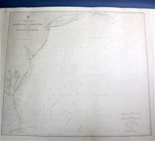 1863 U.S. Coastal Survey Print Nantucket-Hatteras