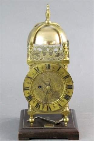 English Brass Mantel Clock