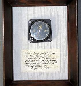 Actual Clock from Enola Gay WWII