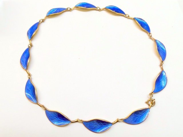 David Andersen Norway Sterling Enamel Necklace