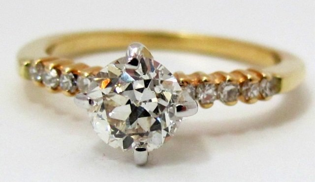 14K Diamond Engagement Ring Center 0.81 Cts.