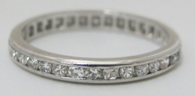 Platinum Diamond Eternity Band Channel Set
