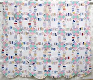 2 - Ca.1920 Hand Quilted Quilts