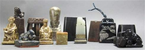 Group of 13 Chinese stamp seals