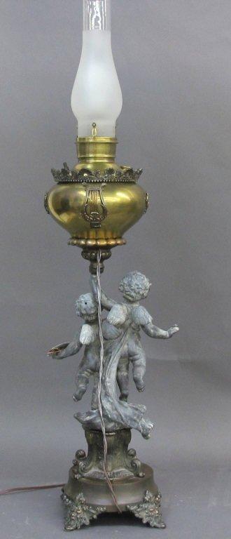 """Antique """"Triumph of Art' Juno Lamp - 2"""