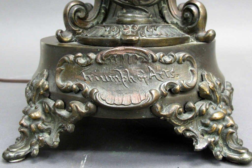 """Antique """"Triumph of Art' Juno Lamp - 3"""