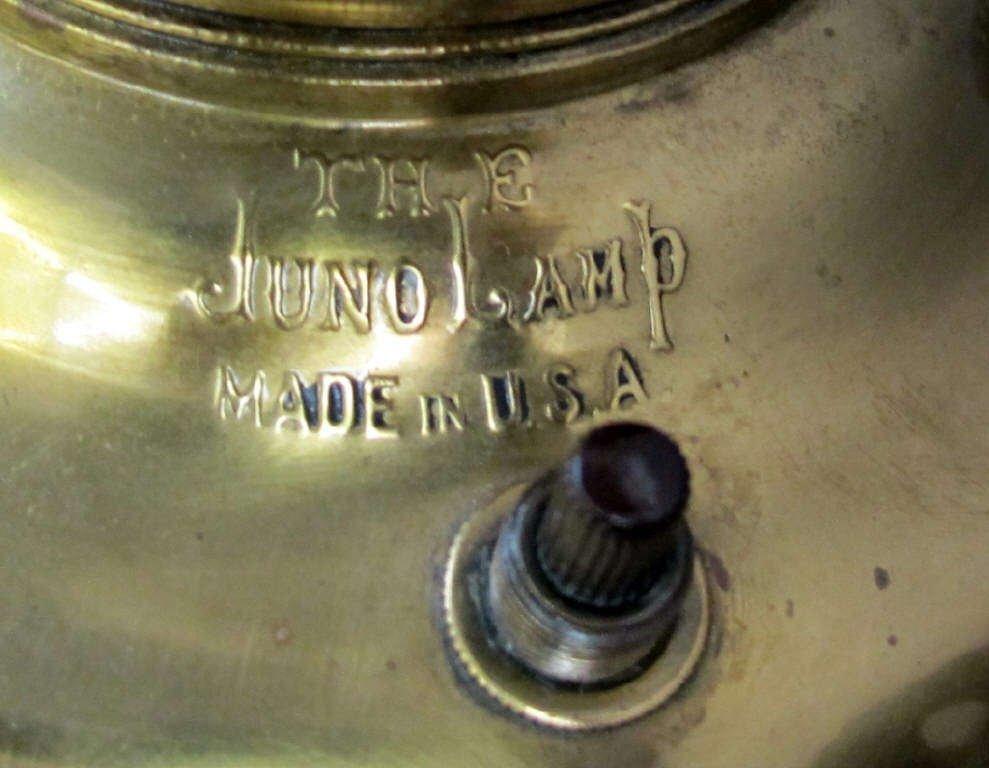 """Antique """"Triumph of Art' Juno Lamp - 4"""