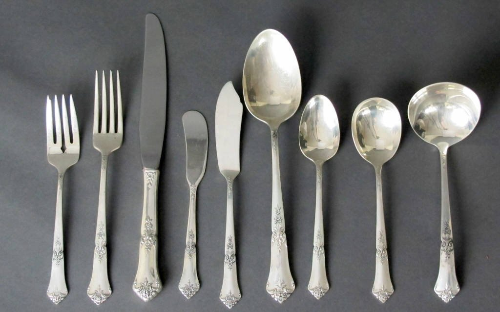 54 Pc State House Sterling Flatware
