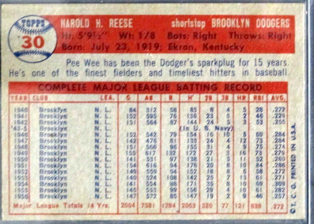 1957 TOPPS Baseball Card - 2