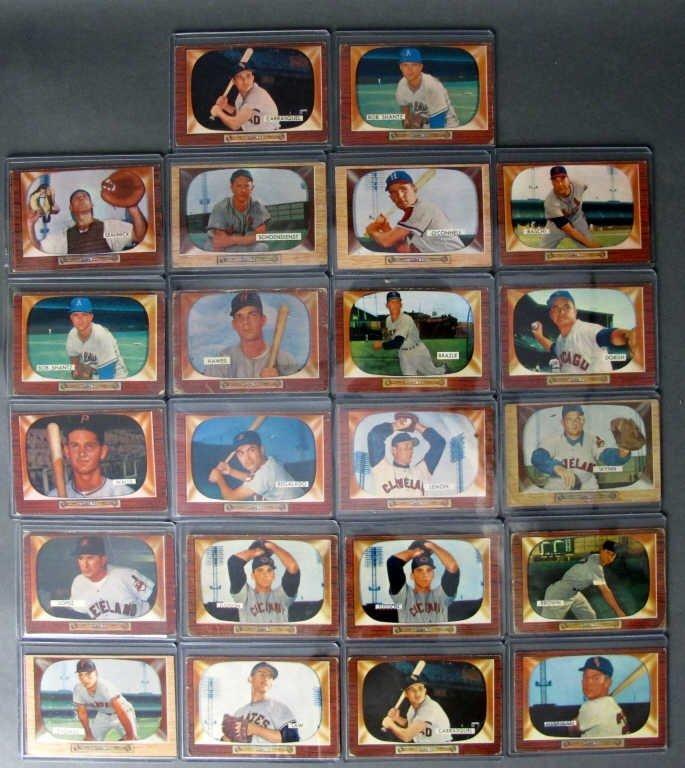 22 - 1955 Bowman Baseball Cards