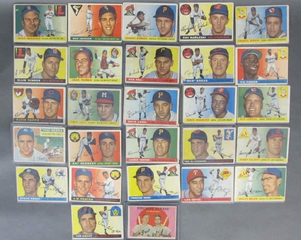 30 - 1955 TOPPS Baseball cards