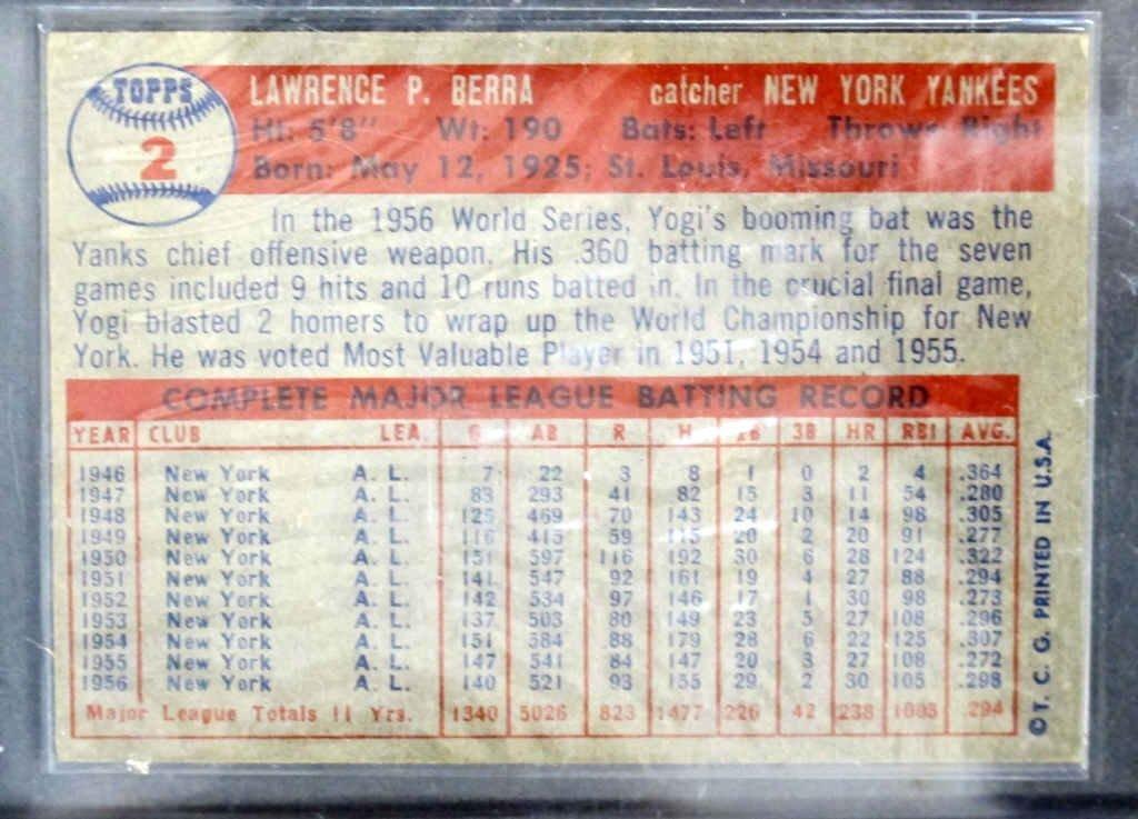Yogi Berra Baseball Card - 2