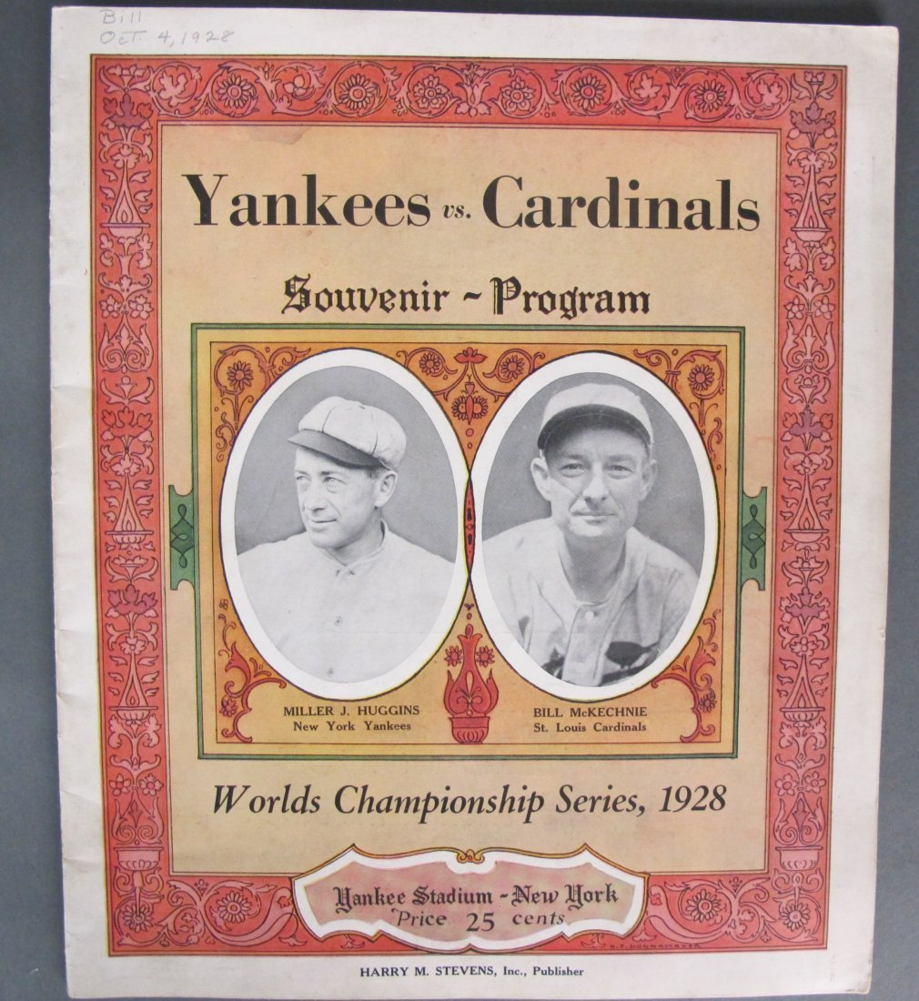 Yankees Vs.Cardinals World Series Program 1928
