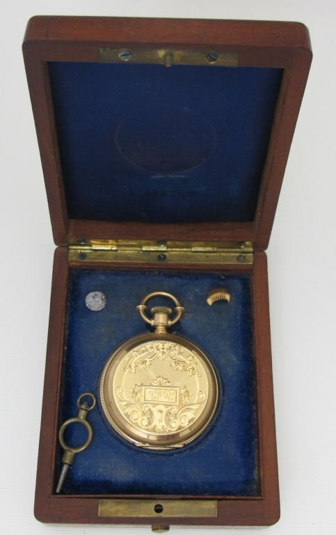 14K Gold Pocket Watch With Elgin Movement Key Wind