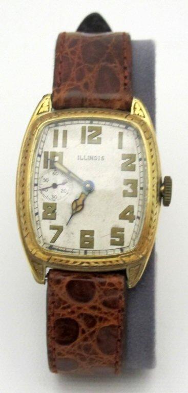 Illinois Mechanical Wrist Watch 19J Curved