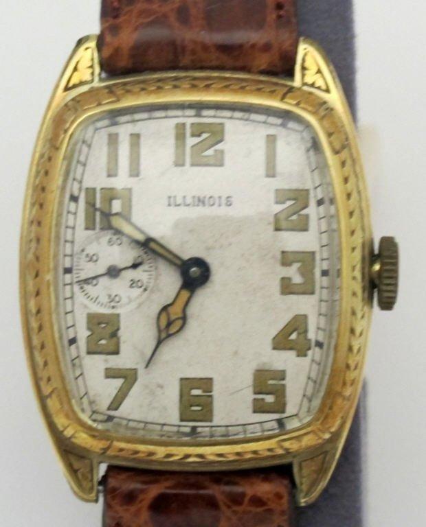 Illinois Mechanical Wrist Watch 19J Curved - 2