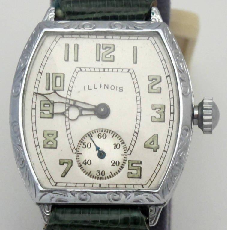 Illinois Mechanical Wrist Watch 17J - 2