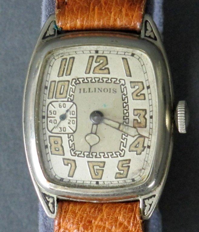 Illinois Mechanical Wrist Watch 17J Curved