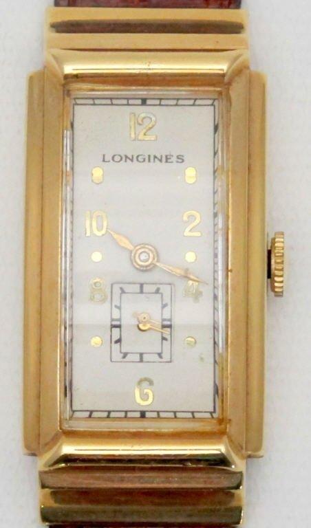 Longines Mechanical Wrist Watch 14K Beveled Crystal