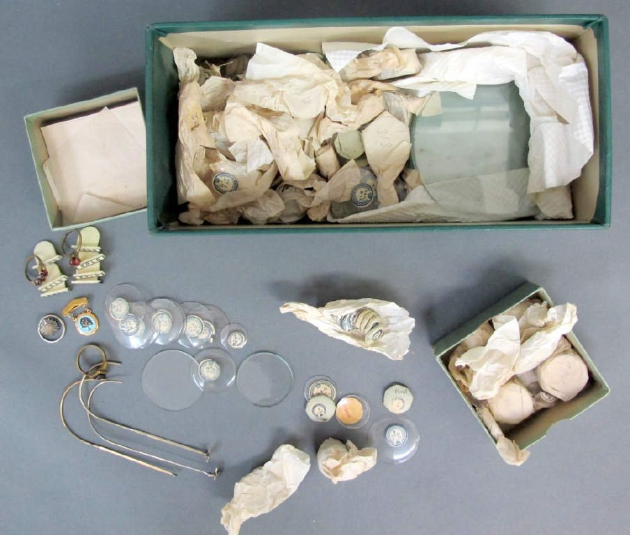 Group of Watch Crystals, Etc.
