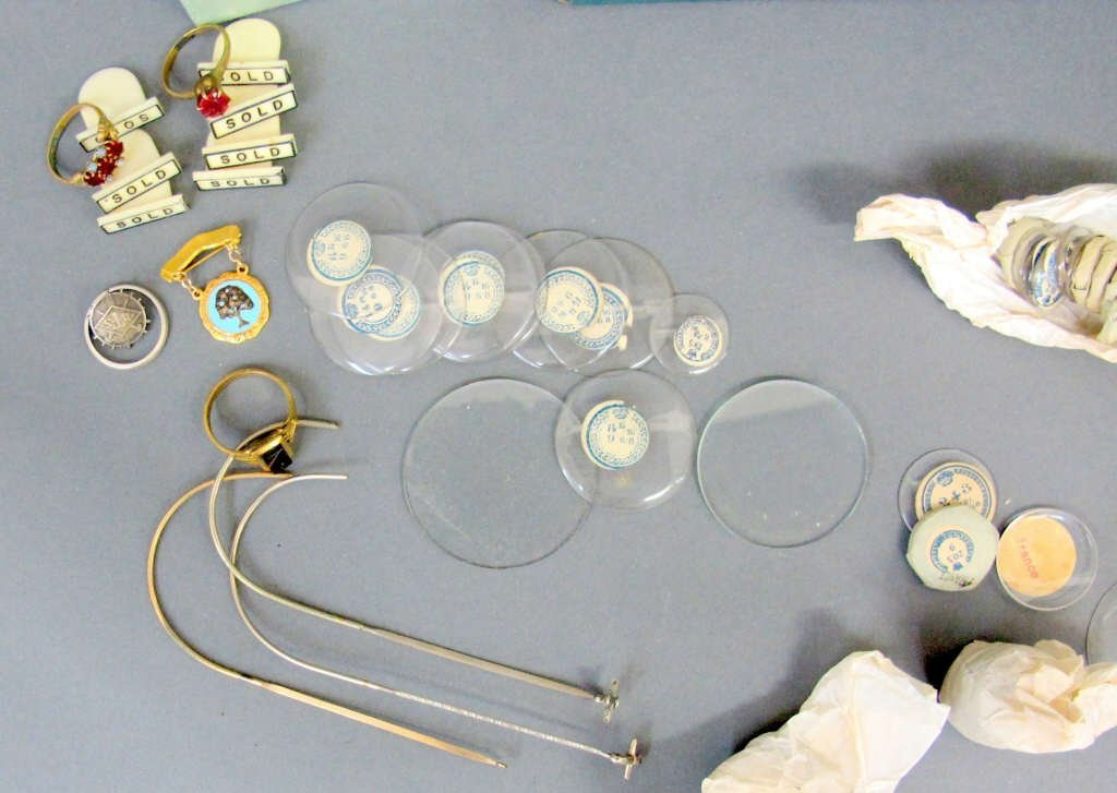 Group of Watch Crystals, Etc. - 3