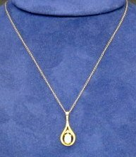 14K Gold Opal Necklace - 2