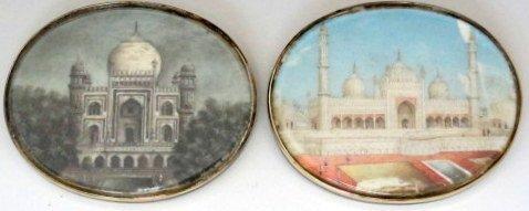 19th C Pair of India  Architectural  Miniatures