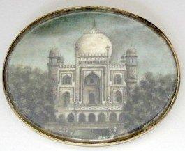 19th C Pair of India  Architectural  Miniatures - 2