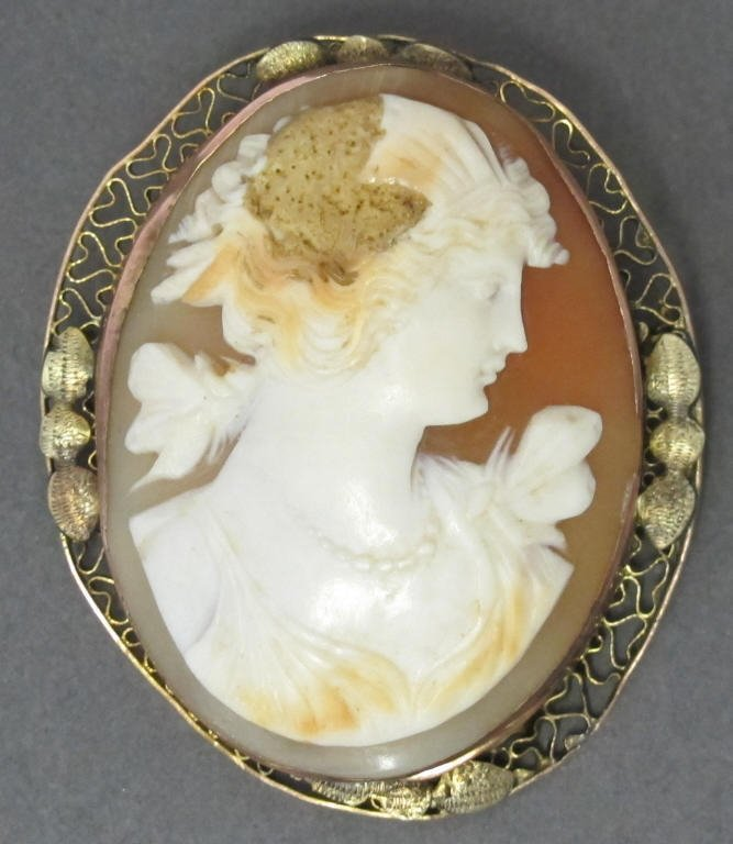 Hand Constructed Cameo Brooch