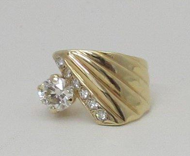 Contemporary 1.89 Ct. Diamond Ring 14K