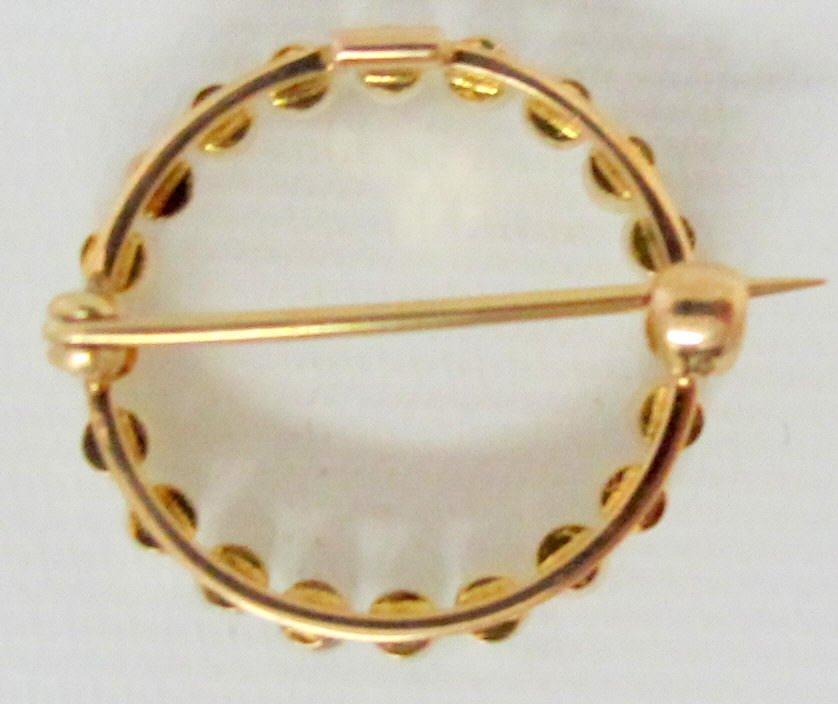 14K Yellow Gold Pearl Brooch/Pin - 2