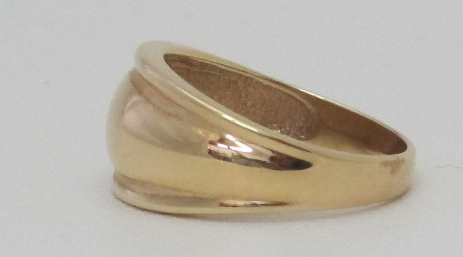 14K Tapered Gold Band - 2