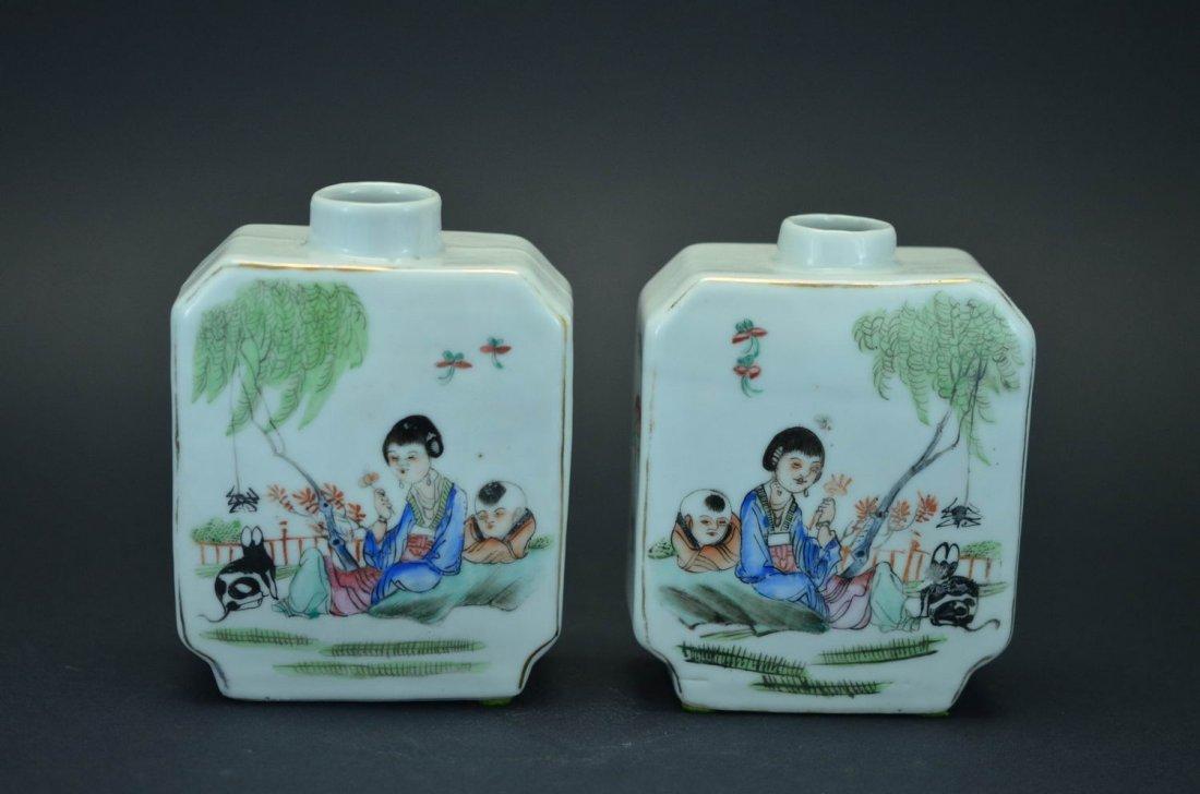 Pastel figures pot- republic of china