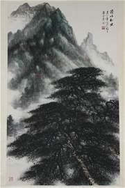 Li Xiongcai Ridge landscape brush painting