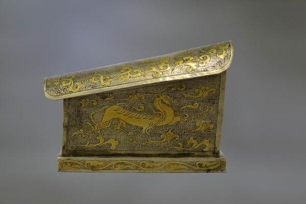 18th century Relic silver coffin