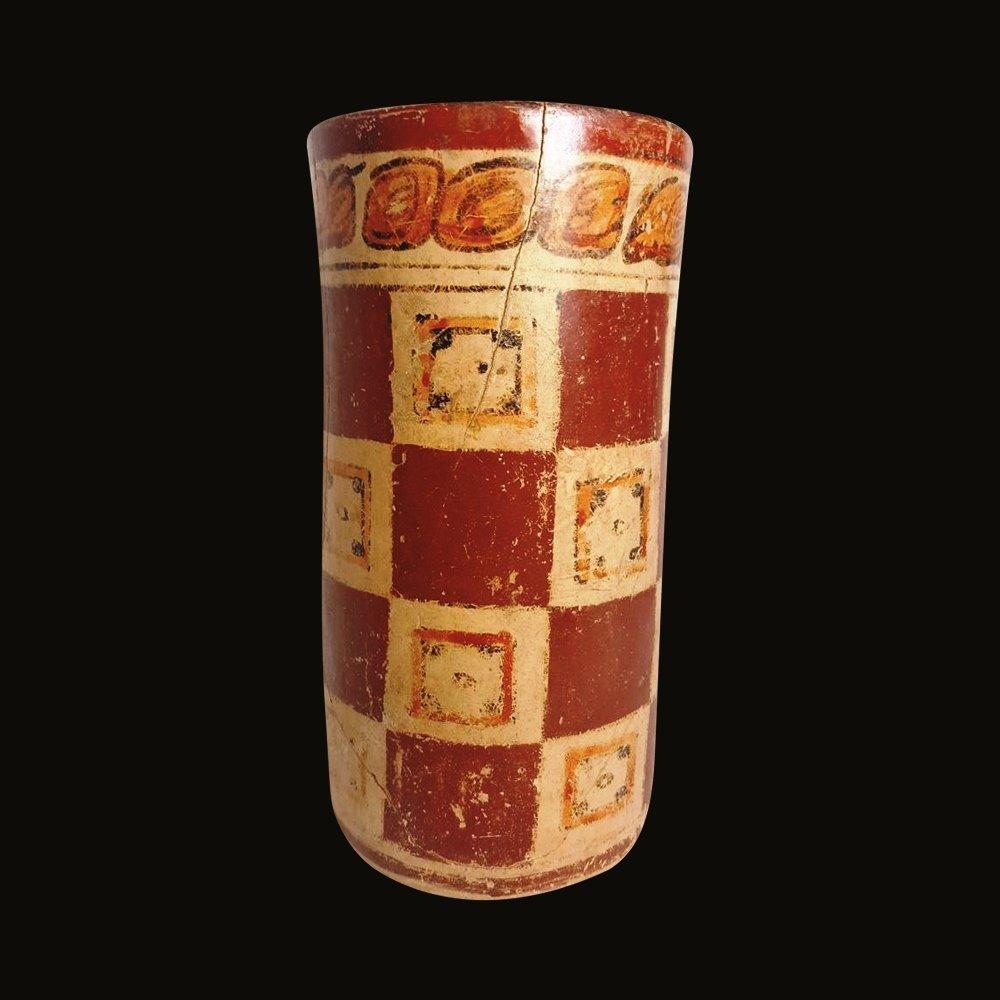 Pre-columbian Maya Polychrome Cylinder - 2
