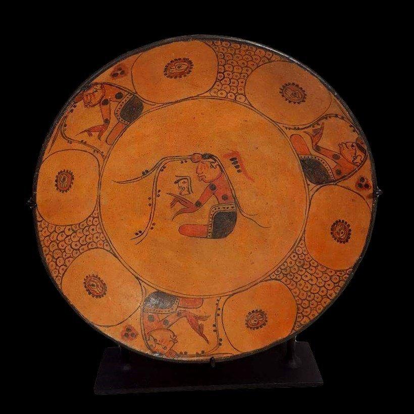 Pre-Columbian Maya Painted Plate