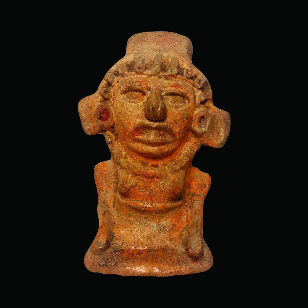 Pre-columbian Maya Pottery Figure