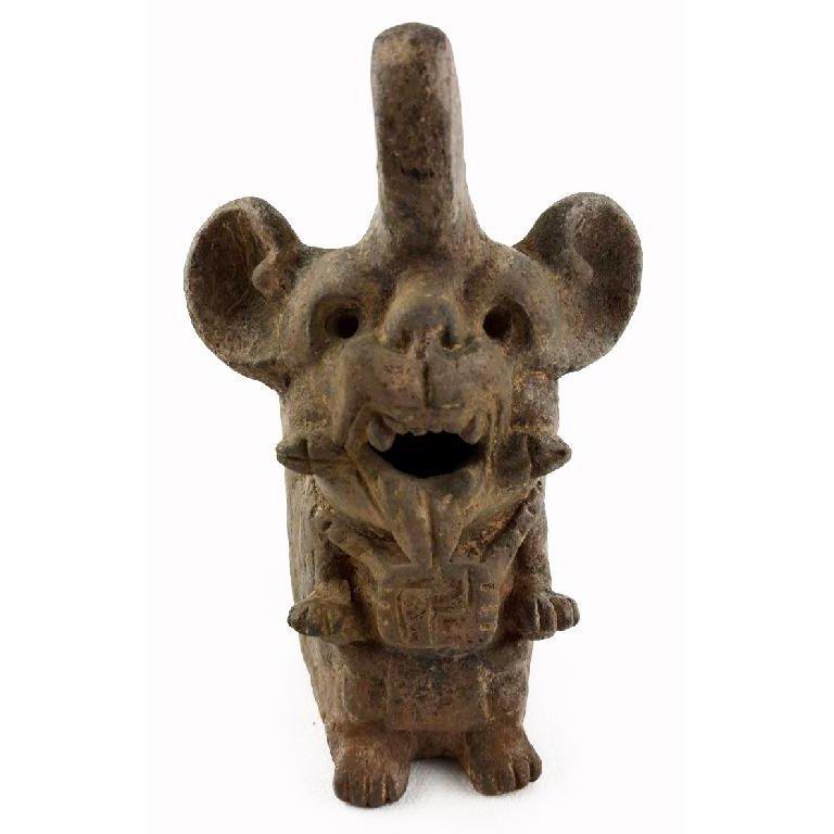 Pre-columbian Zapotec Bat Urn - 2
