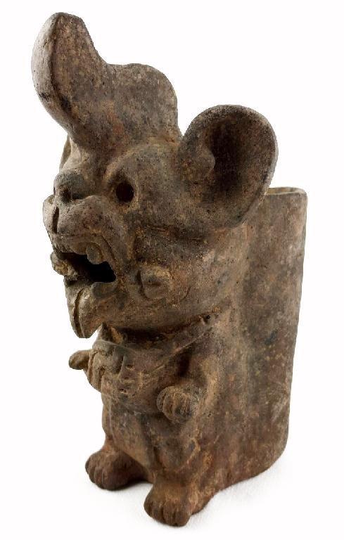 Pre-columbian Zapotec Bat Urn - 4