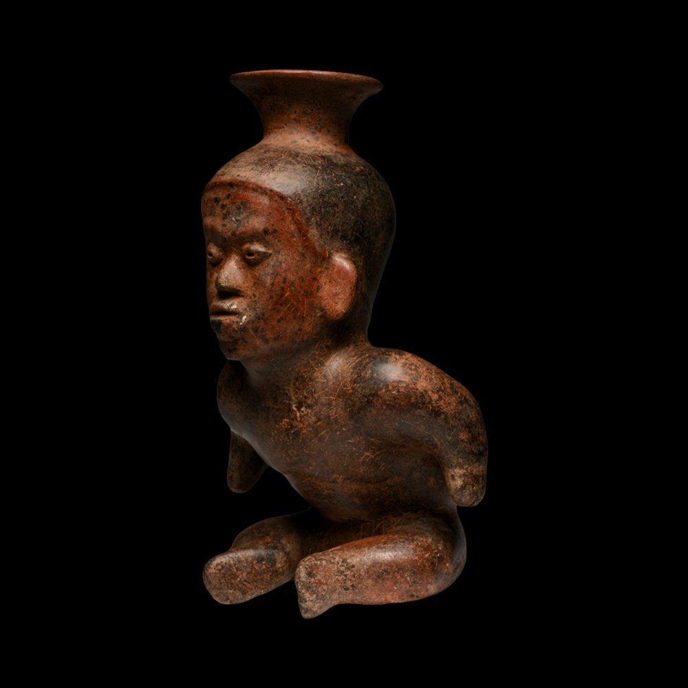 Exhibited Pre-columbian Colima Hunchback Dwarf