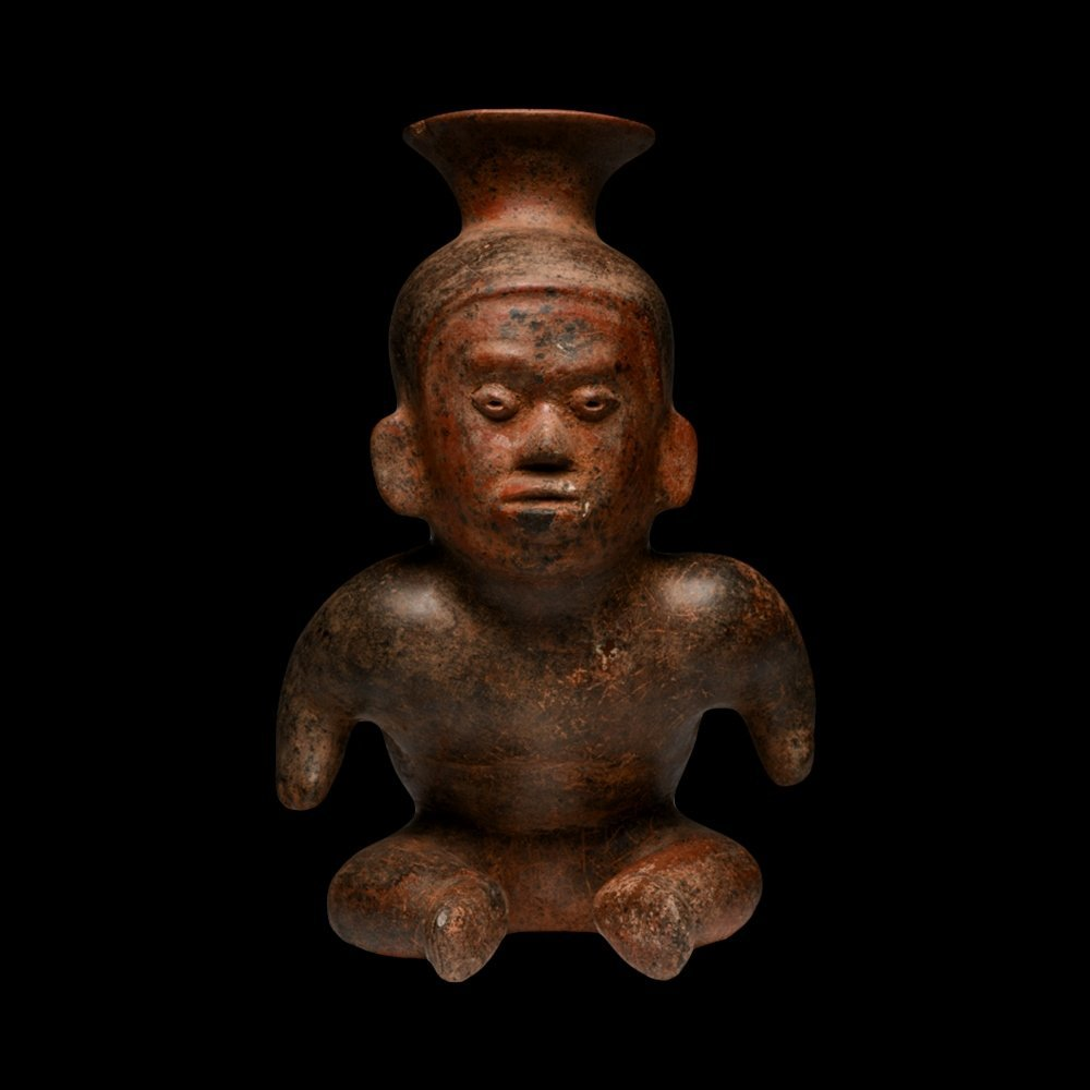 Exhibited Pre-columbian Colima Hunchback Dwarf - 2