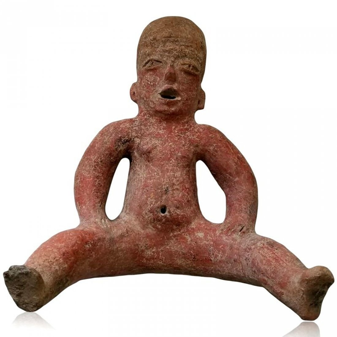 Large Pre-columbian Tlatilco Seated Baby Figure
