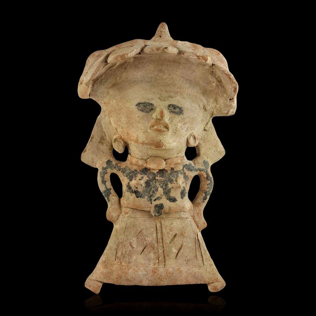 Large Pre-Columbian Veracruz Standing Pottery Figure