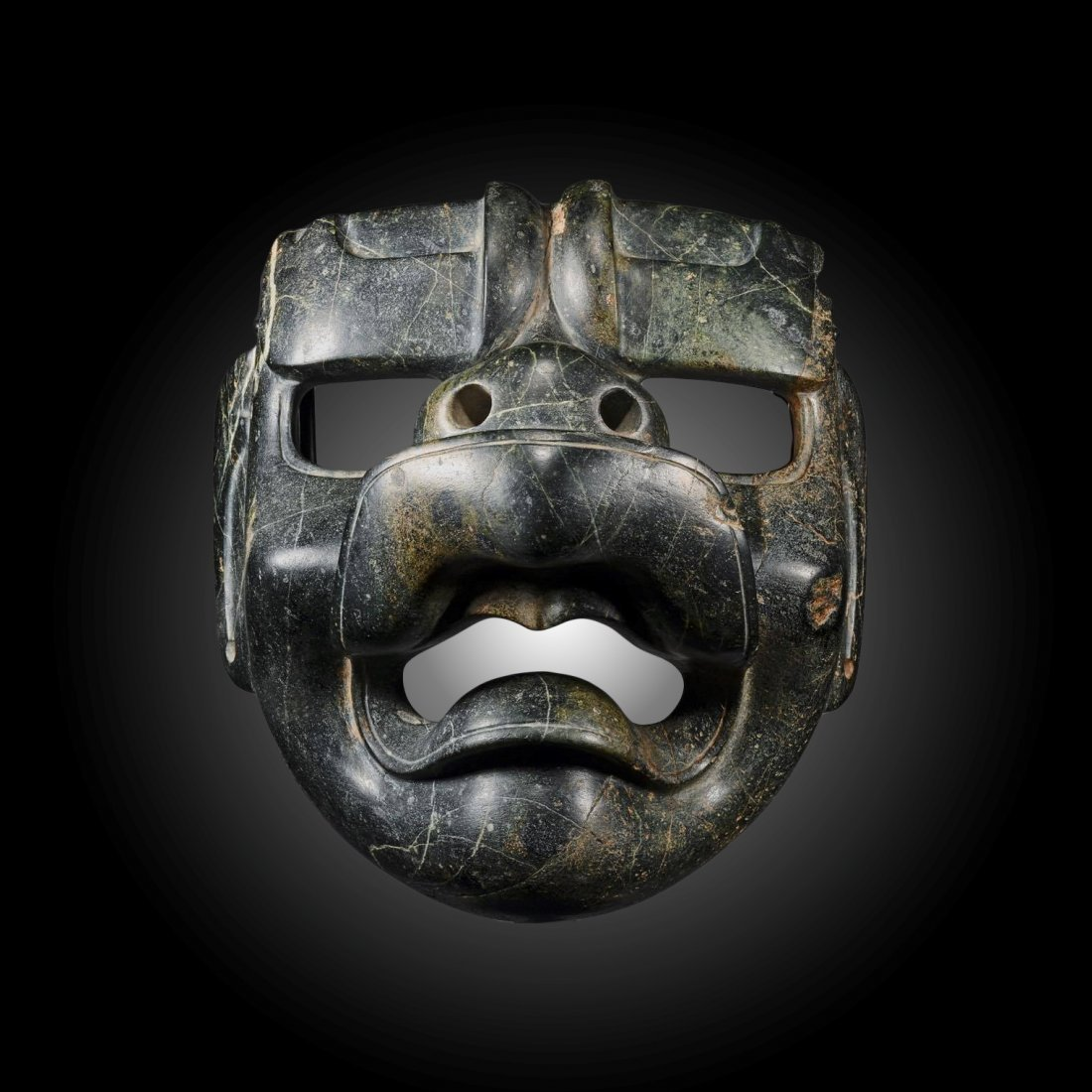 Important Authenticated Pre-Columbian Olmec Jaguar Mask