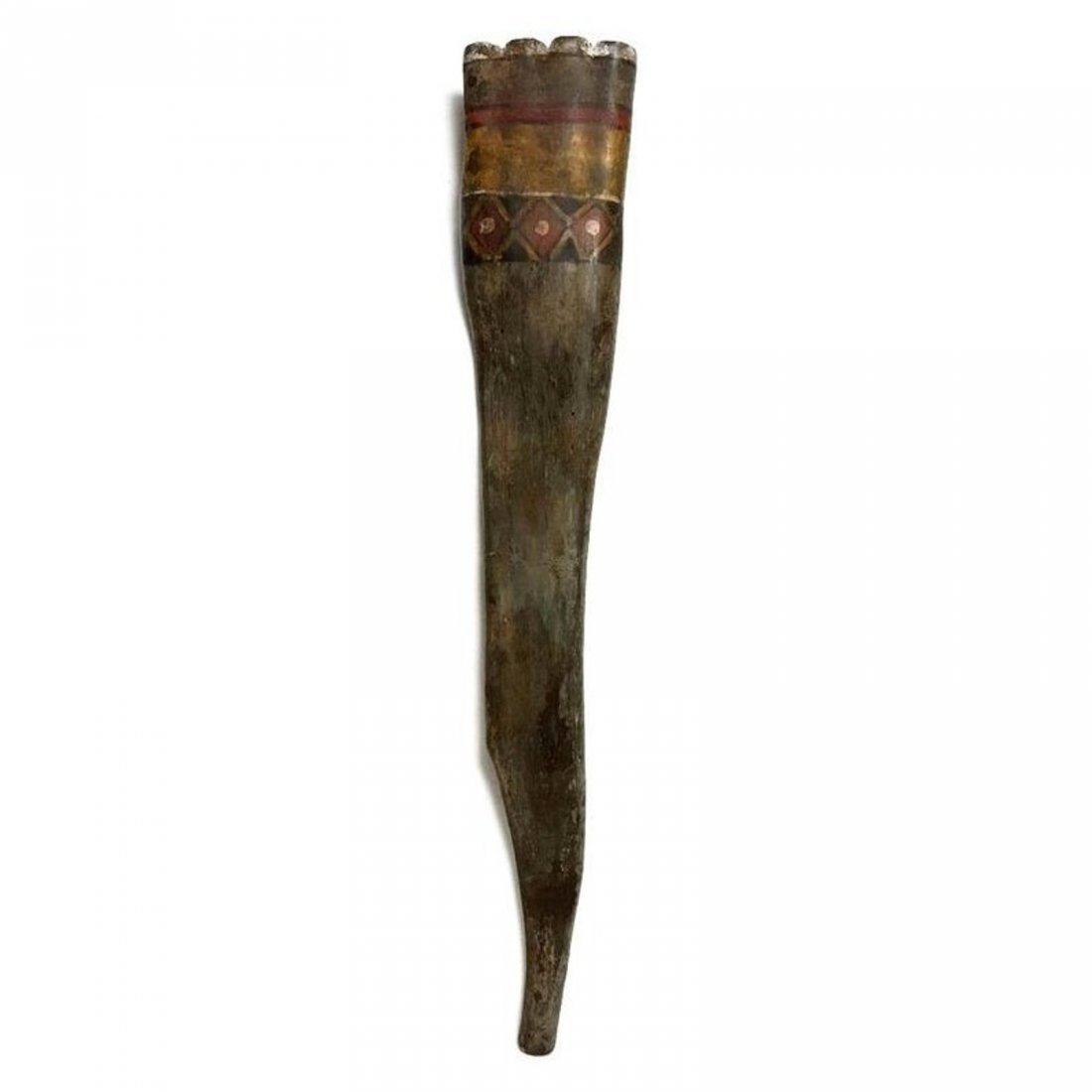 Large Pre-columbian Nazca Painted Pan Pipe