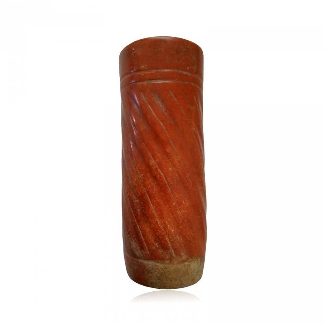 Pre-columbian Maya Orangeware Cylinder Vessel