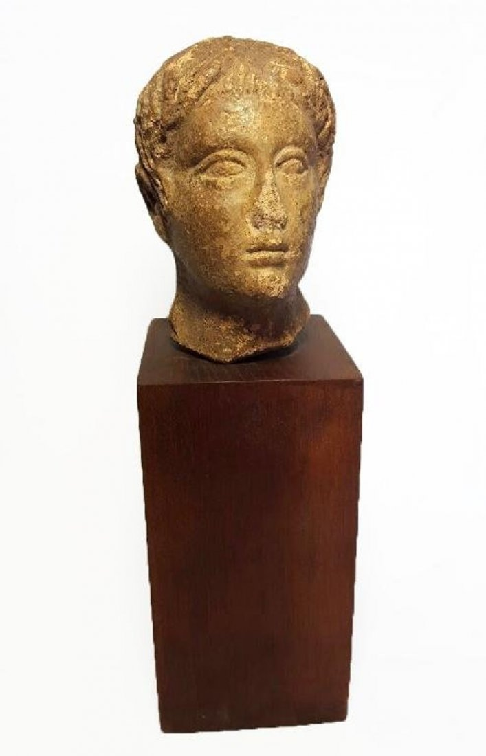 Ancient Roman Pottery Head