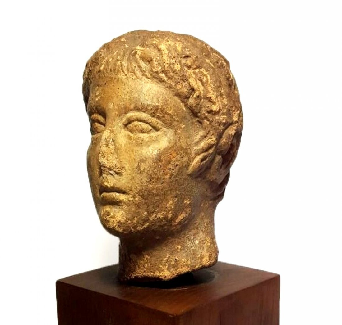 Ancient Roman Pottery Head - 3