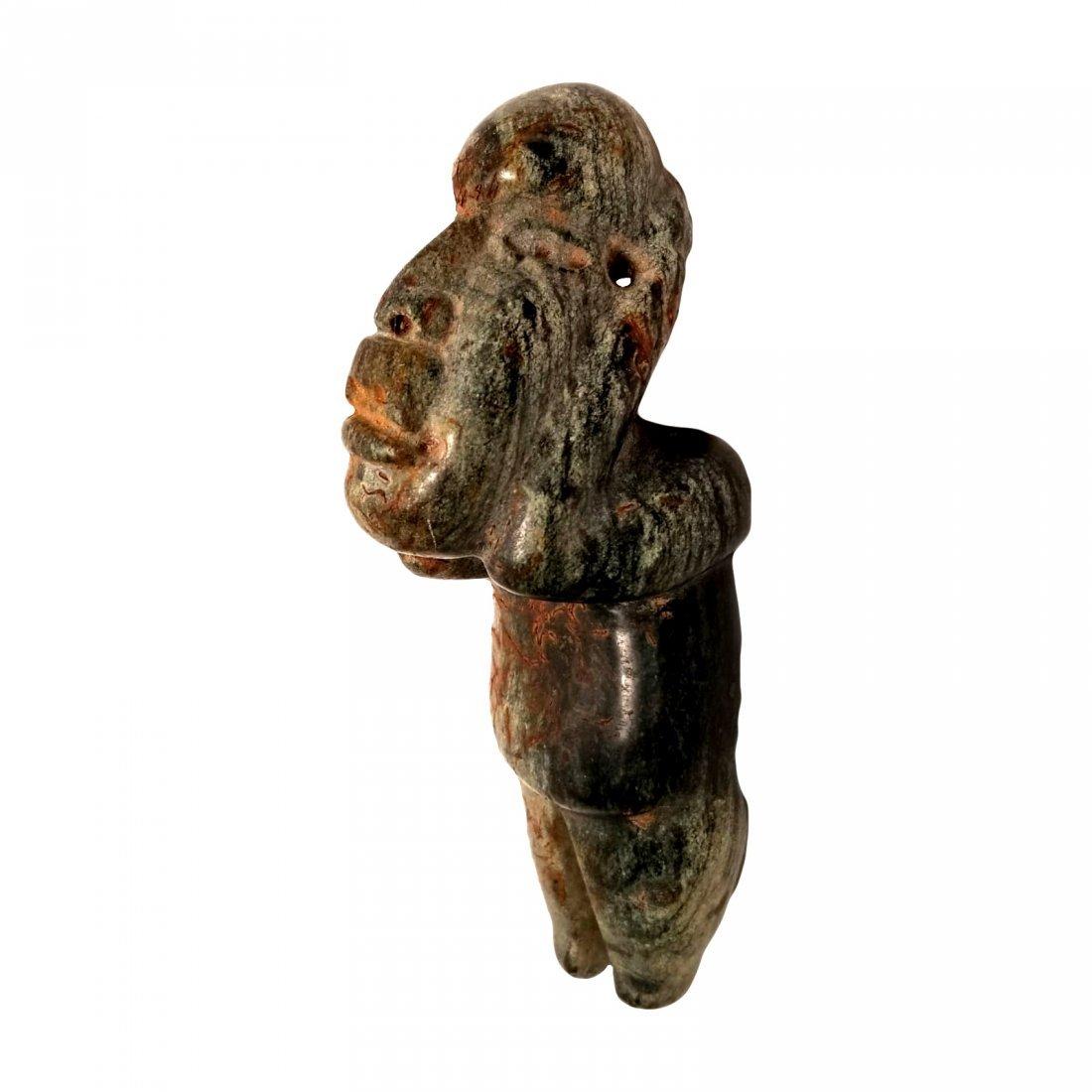 Pre-Columbian Olmec Serpentine Figure - 2